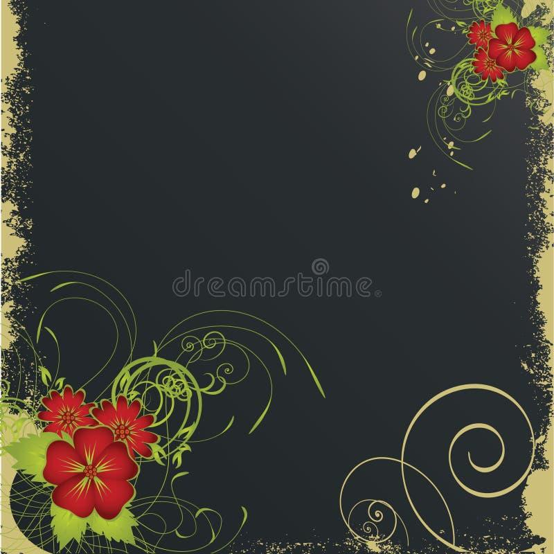 tła kwiatu grunge ładny obrazy stock