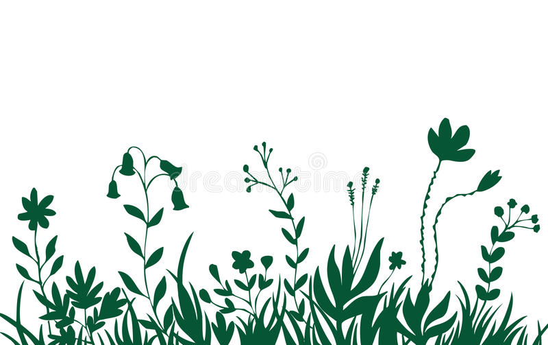tła kwiatu trawy zieleń royalty ilustracja