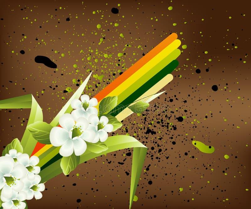tła kwiatu wiosna ilustracji