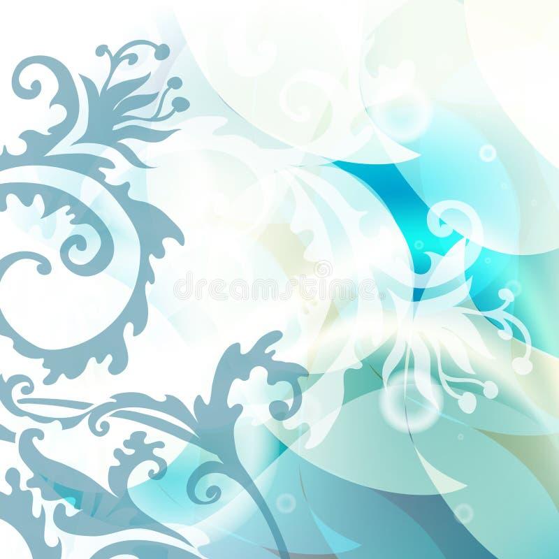 tła kwiecisty błękitny ilustracja wektor