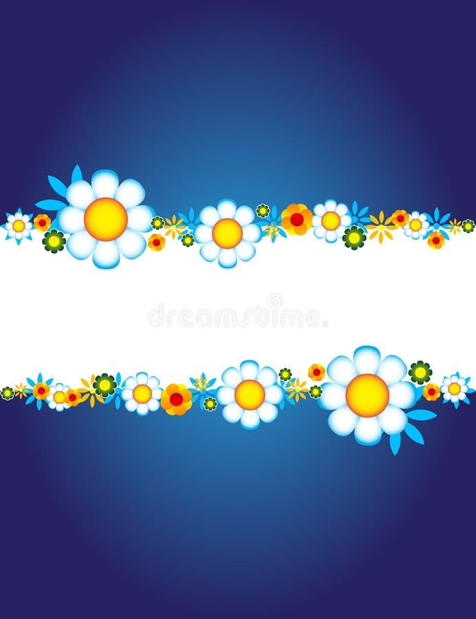 tła kwiecisty błękitny ilustracji