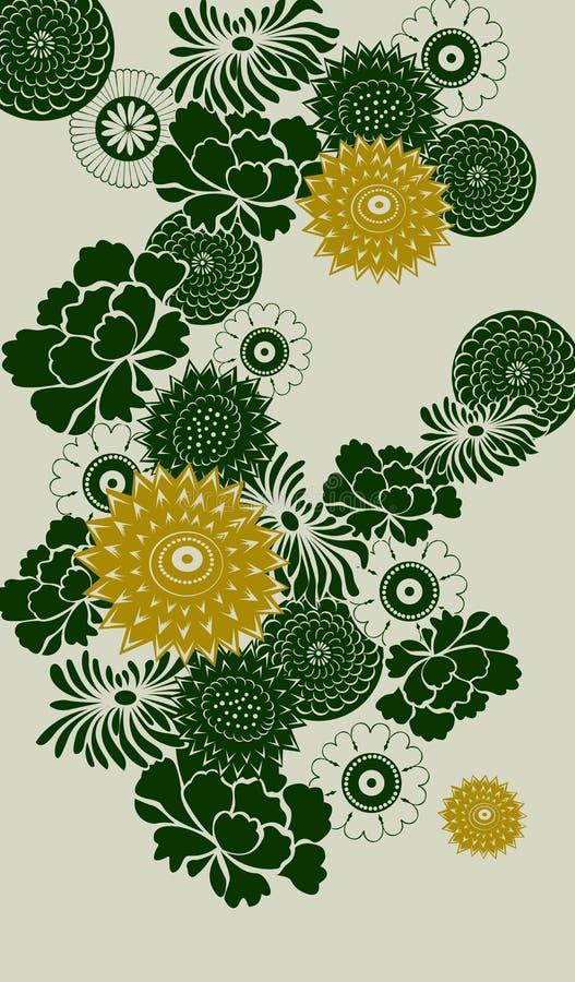 tła kwiecisty dekoracyjny royalty ilustracja