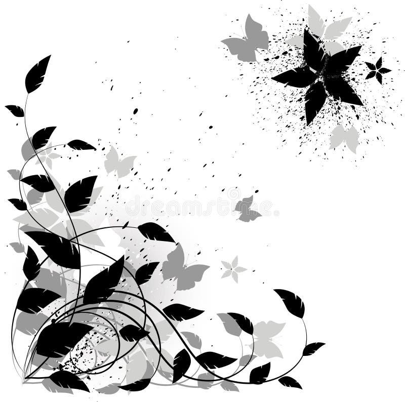 tła kwiecisty grunge wektor ilustracji