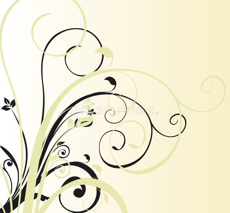 tła kwiecisty koszowy royalty ilustracja