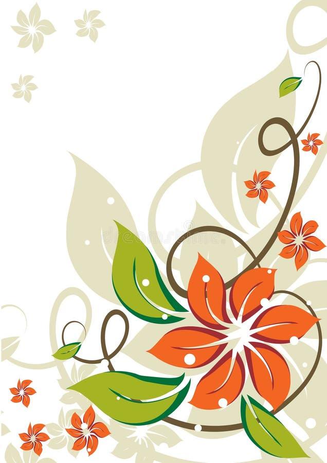 tła kwiecisty kwiatów grunge ilustracji