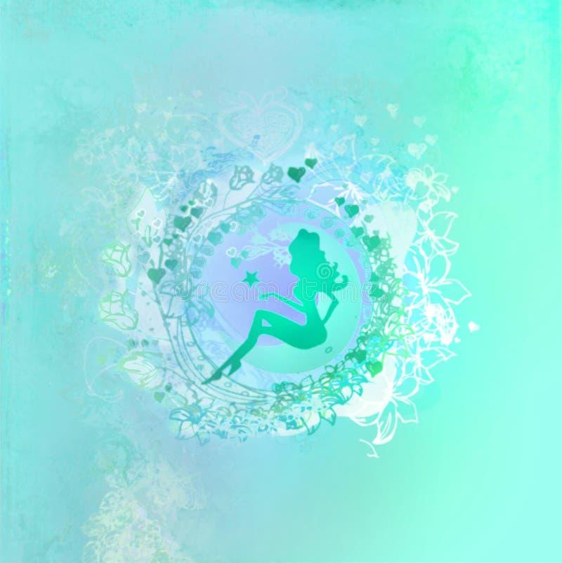 tła kwiecisty piękny czarodziejski ilustracji