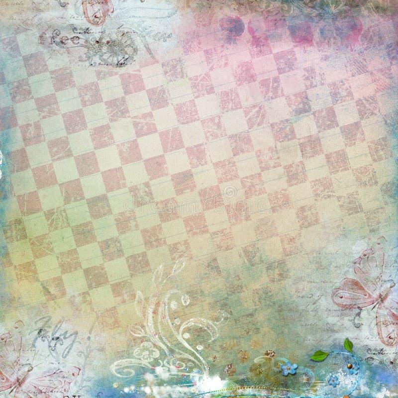 tła kwiecisty wiosna rocznik royalty ilustracja