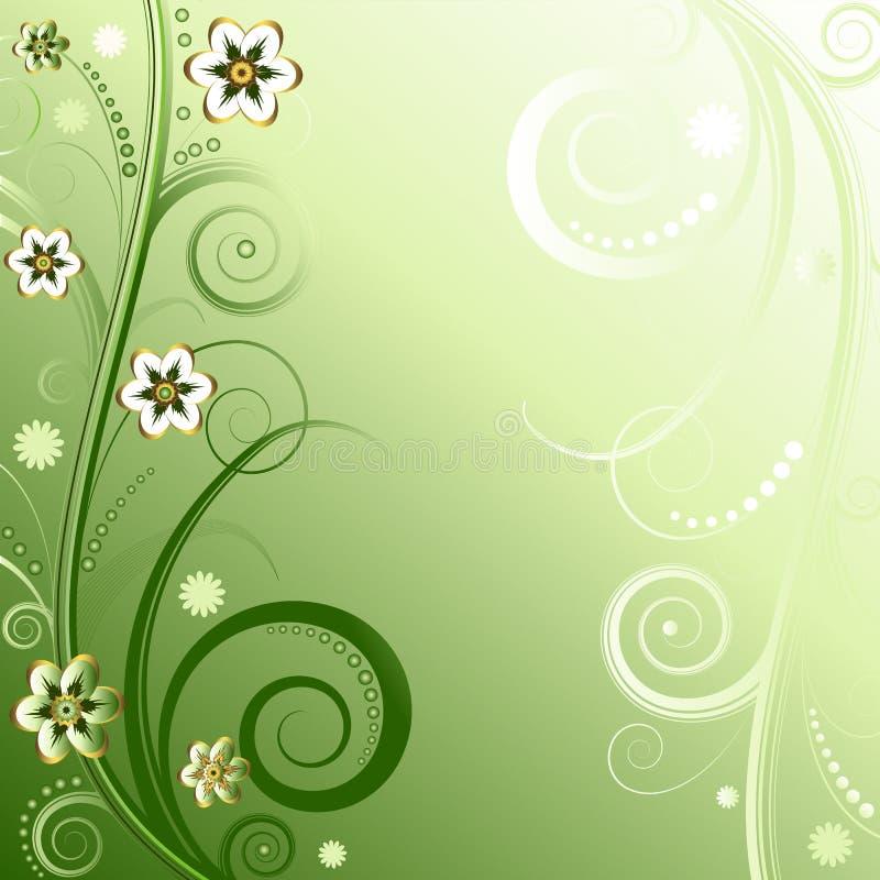 tła kwiecisty zieleni wektor royalty ilustracja