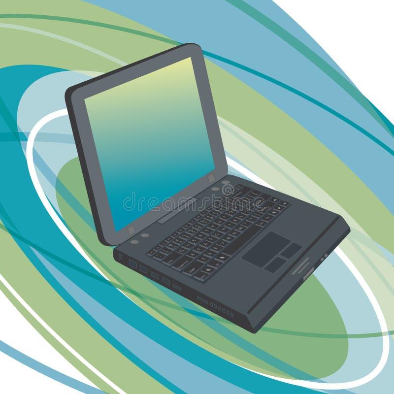 tła laptopu owal royalty ilustracja