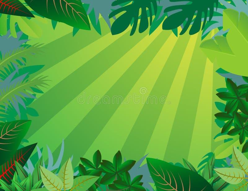 tła lasu dżungla royalty ilustracja