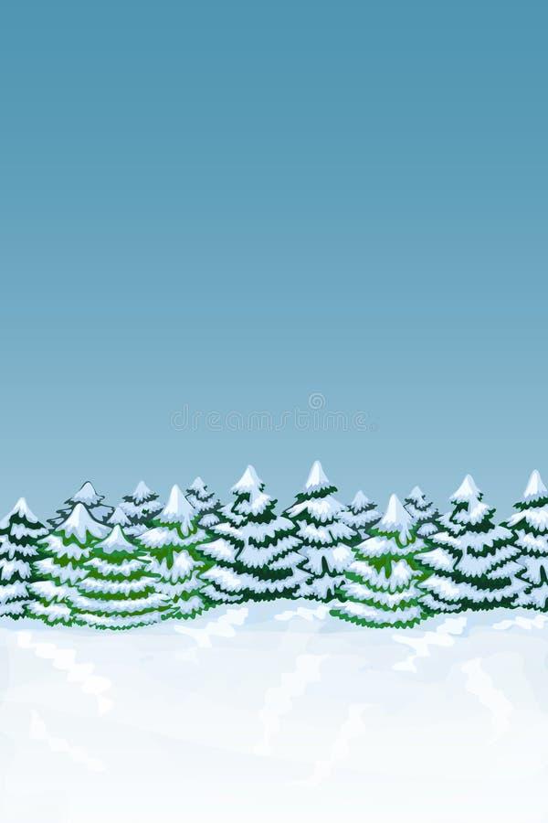tła lasu zima ilustracja wektor