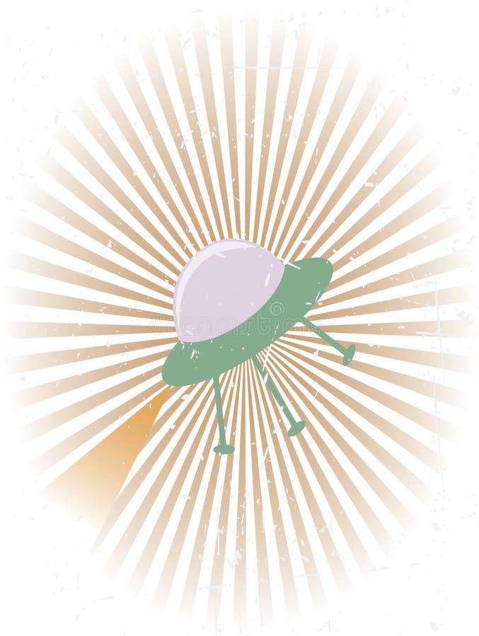 tła latającego grunge retro ufo ilustracji