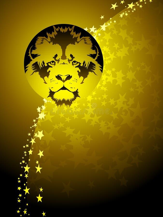 tła Leo zodiak royalty ilustracja