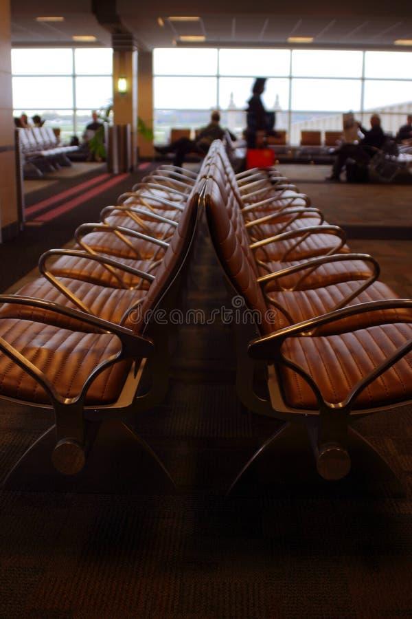 tła lotniskowych podróżnych siedzenia obrazy royalty free
