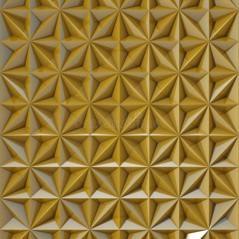 Tła lustrzany złoto fotografia stock