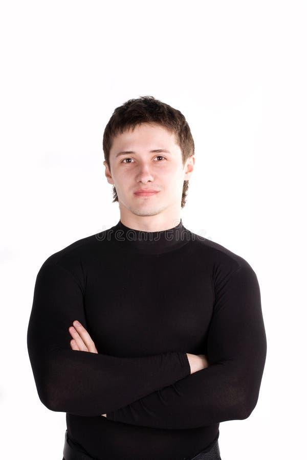 tła mężczyzna portreta biel potomstwa obraz stock