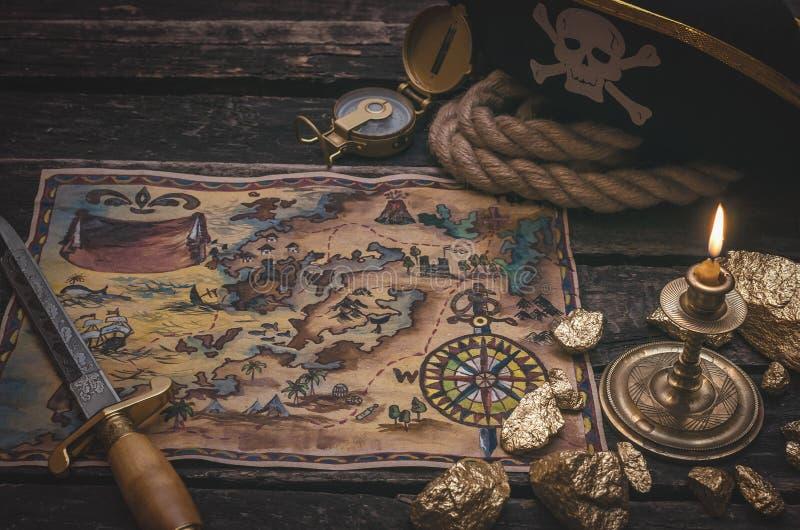 tła mapy stary papierowy skarbu wektor obrazy stock