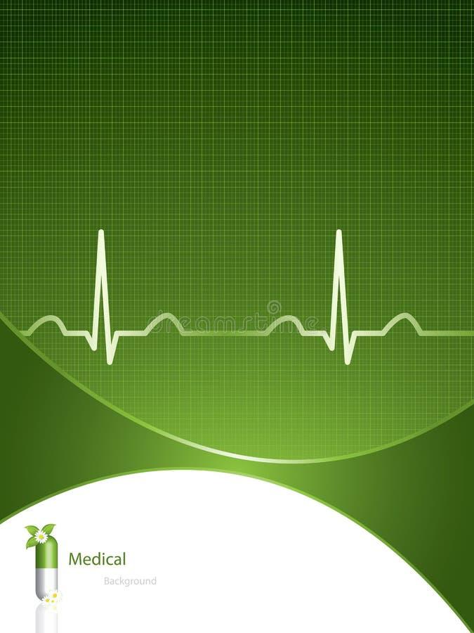 tła medyczny zielony ilustracja wektor