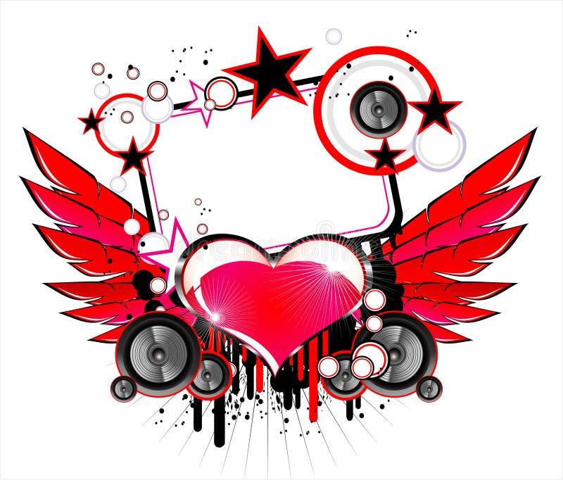 tła miłości muzyka ilustracji