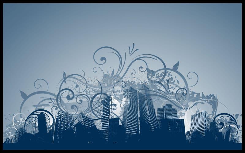tła miasta grunge ilustracja wektor