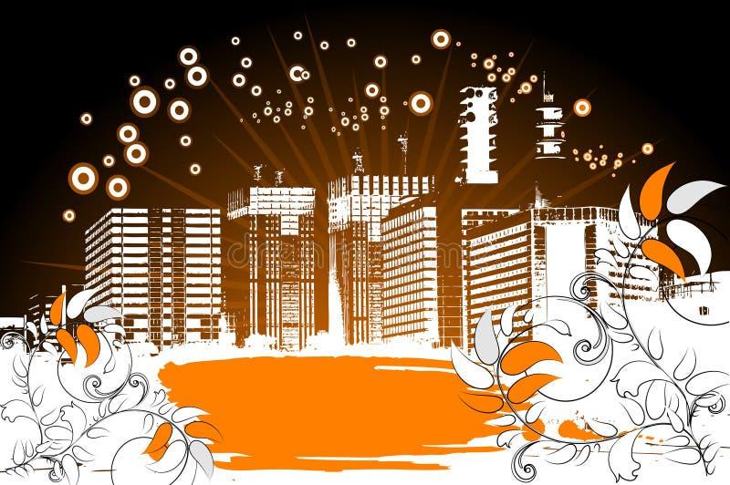 tła miasta grunge ilustracji