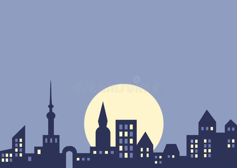 tła miasta noc wektor ilustracja wektor