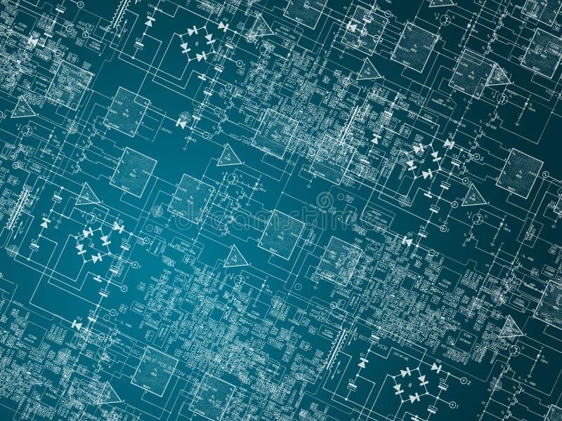 tła microcircuit ilustracji