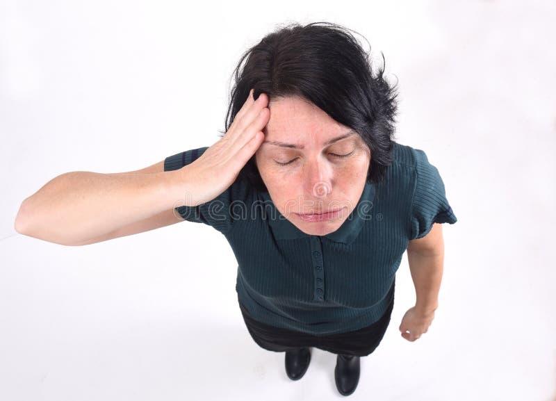 tła migreny biała kobieta obrazy royalty free