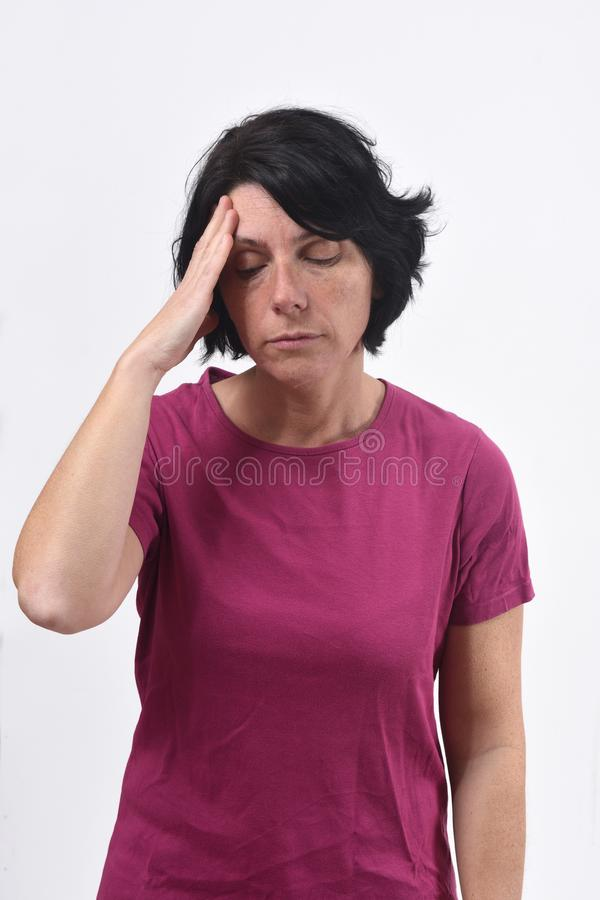 tła migreny biała kobieta zdjęcia royalty free