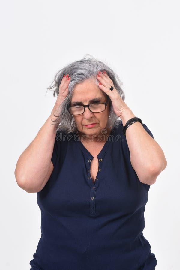 tła migreny biała kobieta obraz royalty free