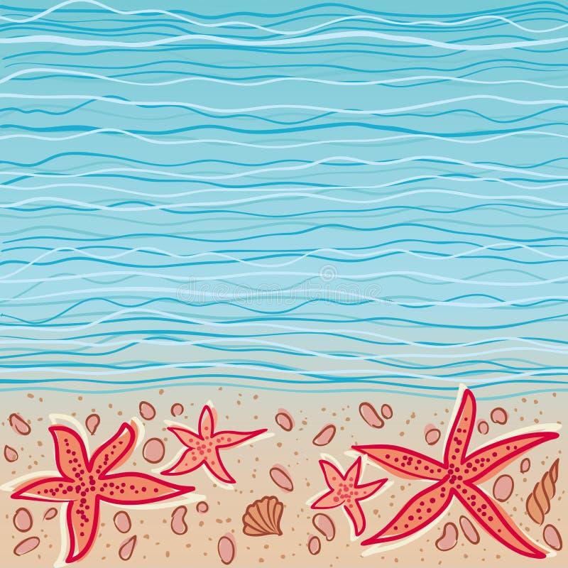 tła morza wektor royalty ilustracja