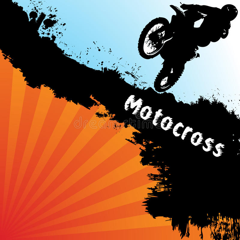 tła motocross wektor ilustracja wektor