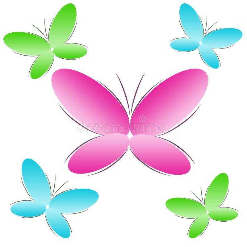tła motyli colour royalty ilustracja
