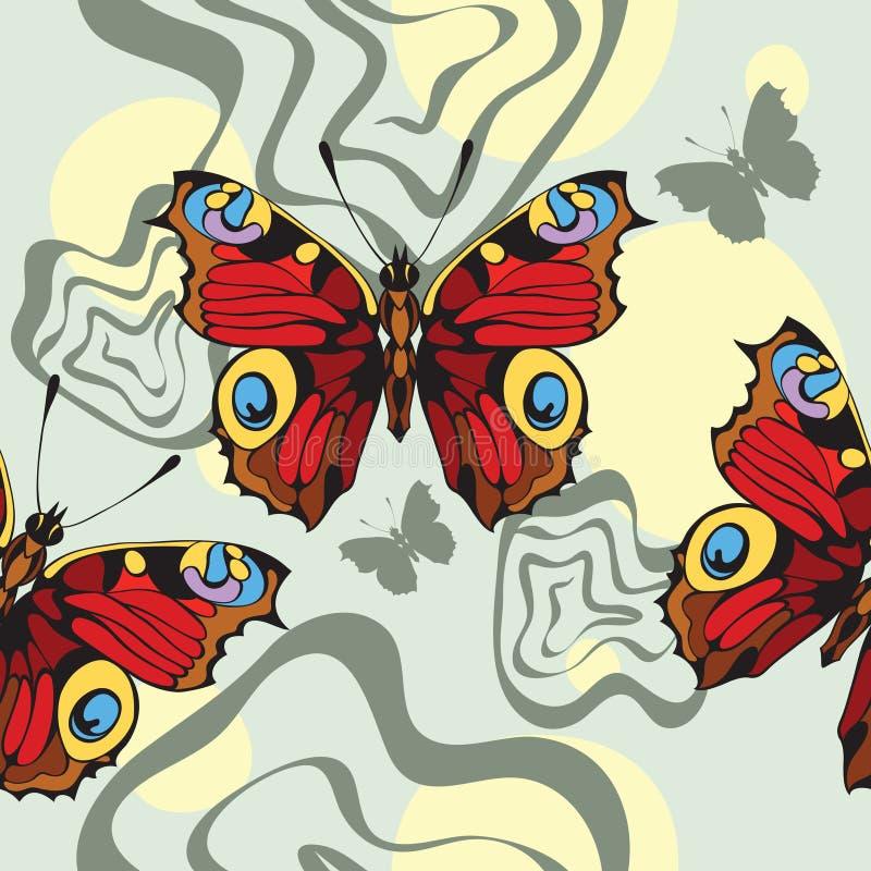 tła motyli dekoracyjny ładny ilustracja wektor