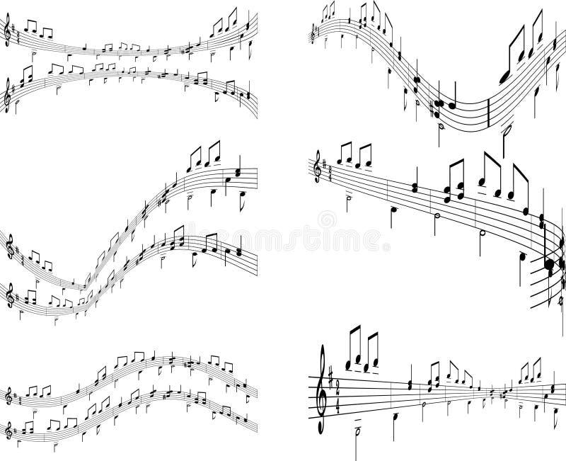 tła muzyczni royalty ilustracja