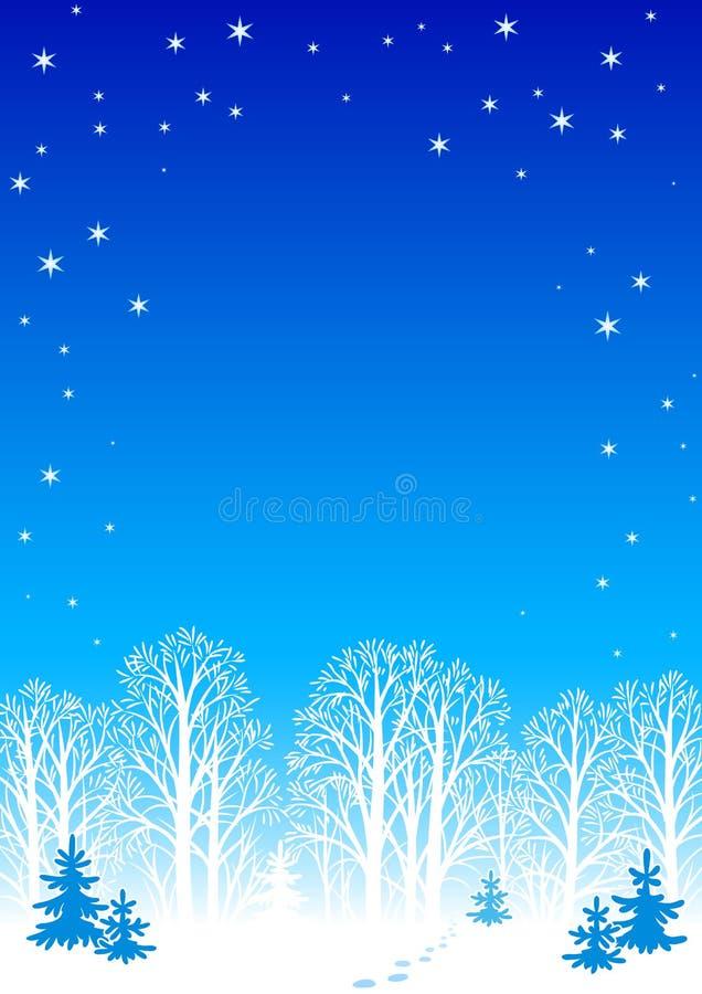 tła noc zima ilustracja wektor