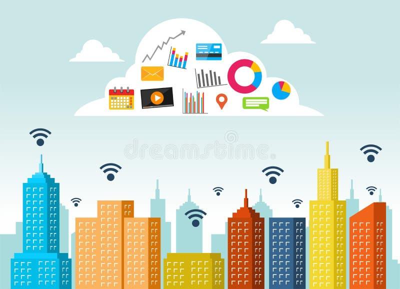 10 tła obłoczny pojęcia eps gradientu grey usługa wektor Obłoczna oblicza technologia Internet rzeczy chmura z apps royalty ilustracja