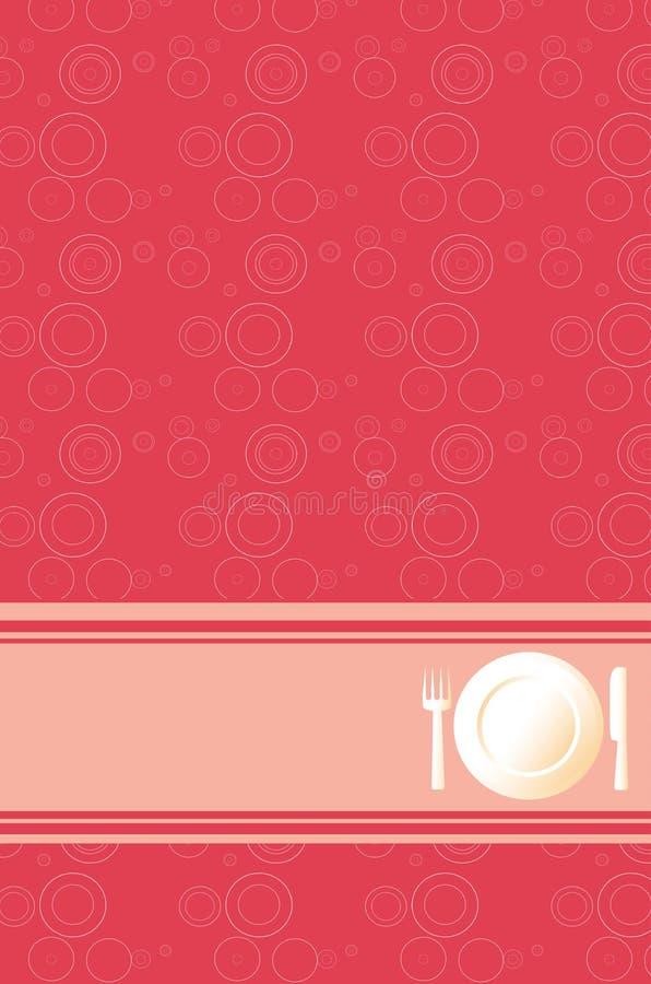 tła obiadowa menu czerwień ilustracji