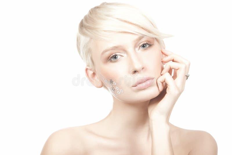 tła odosobneni białej kobiety potomstwa obrazy stock