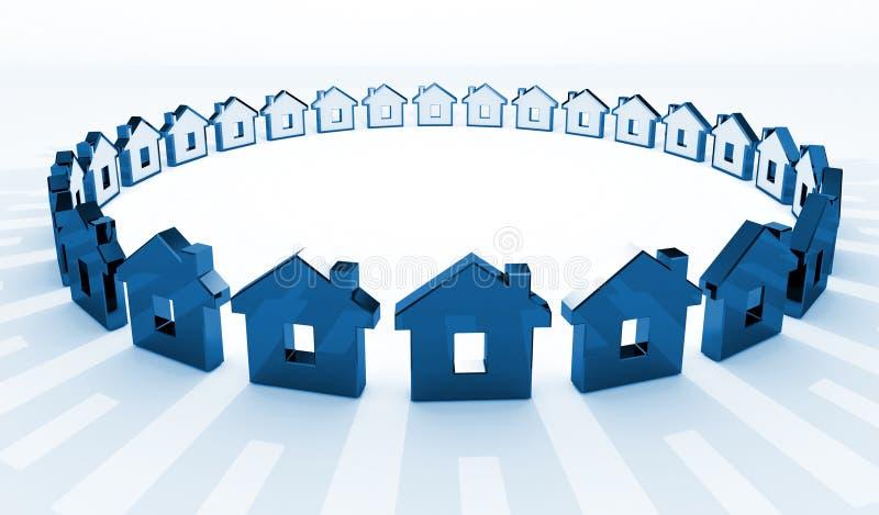 tła okręgu dom ilustracji