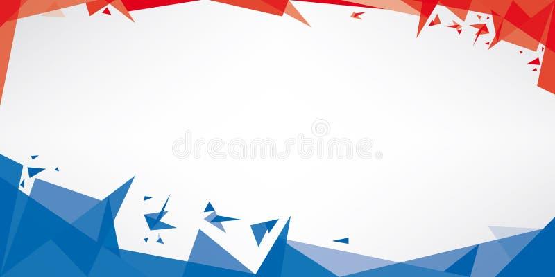 Tła origami Francja ilustracja wektor
