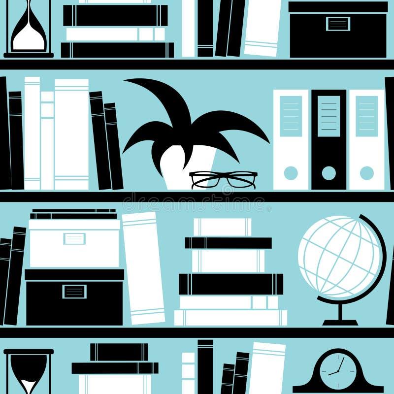 tła półka na książki ilustracji
