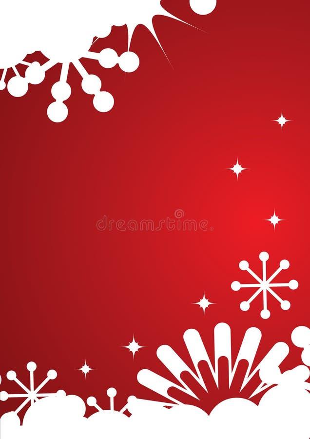 tła płatków śniegów gwiazd zima ilustracja wektor