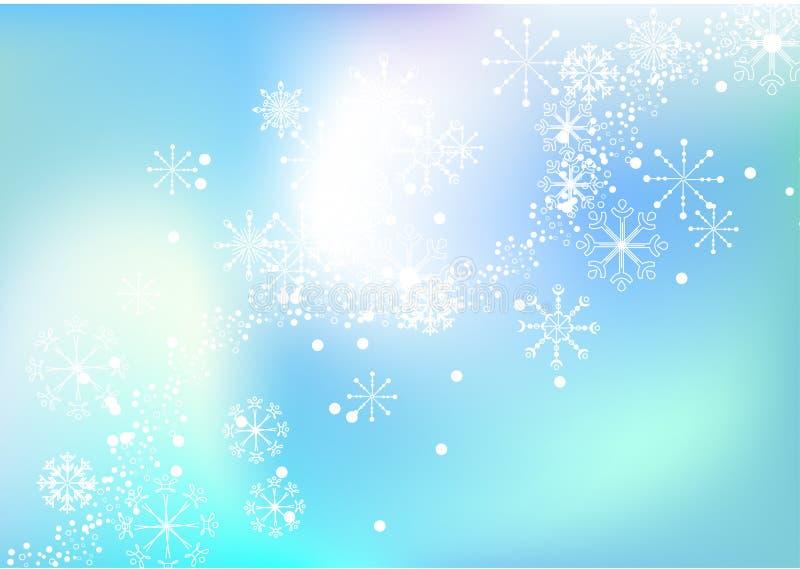tła płatka śniegu wektor ilustracja wektor