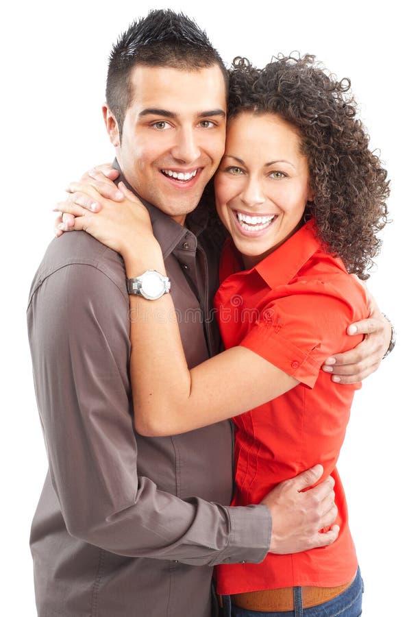 tła pary szczęśliwa miłość nad biel zdjęcie stock