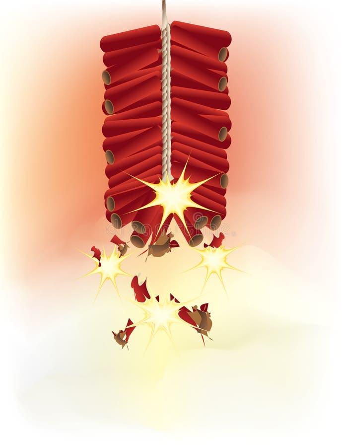 tła petard czerwony biel ilustracji