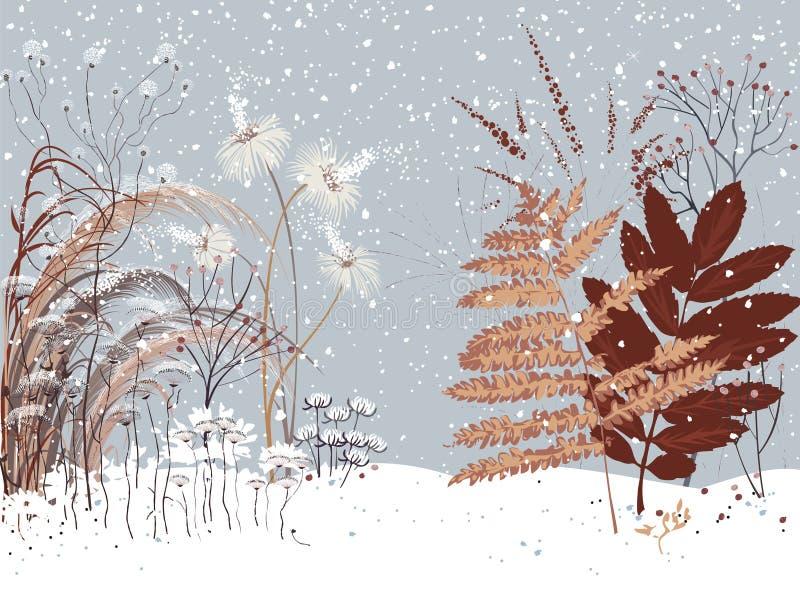 tła piękna projekta ogródu śnieżna zima twój royalty ilustracja