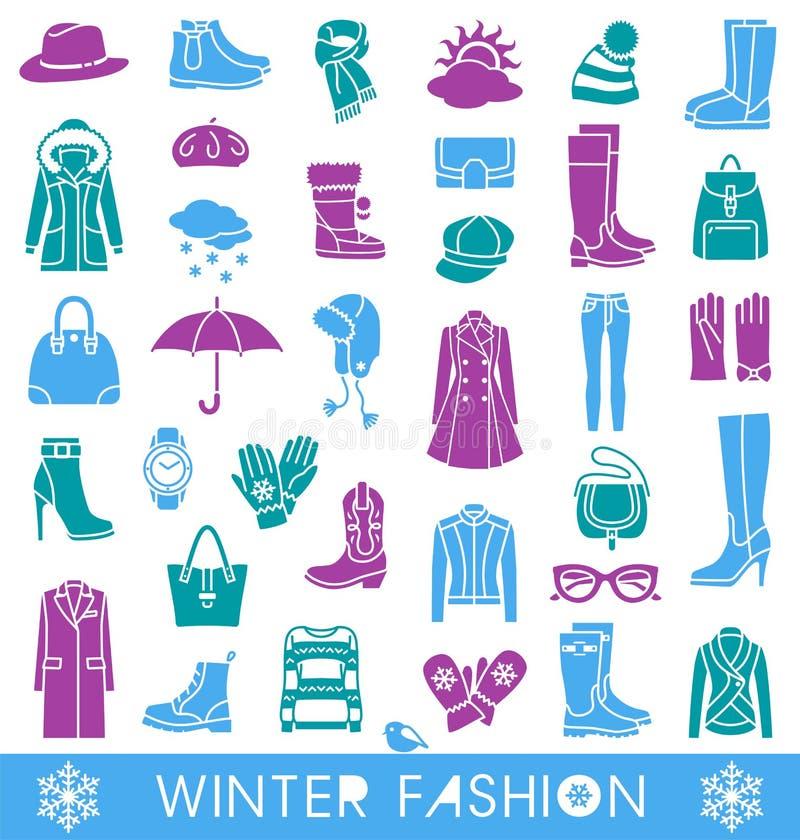 tła pięknej mody dziewczyny odosobniona biały zima ilustracja wektor