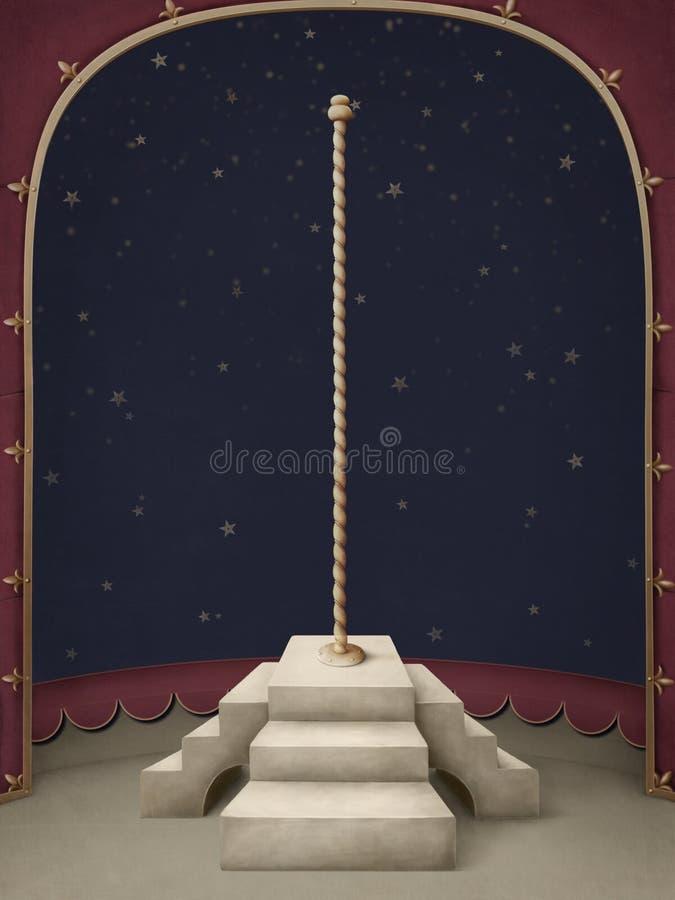 tła piękny podium słup ilustracji