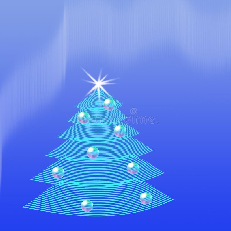 tła pięknych bożych narodzeń ilustracyjny drzewa wektor ilustracja wektor